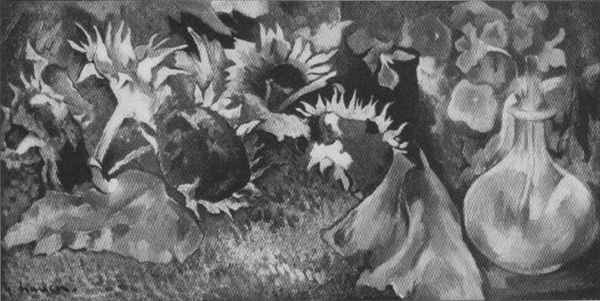 Sonnenblumen mit welker Kresse- Alfred Flechtheim
